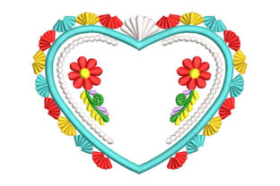 Flower Heart Valentine's Day Embroidery Design By Embroiderypacks