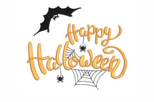 Happy Halloween Halloween Embroidery Design By LizaEmbroidery