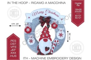 ITH Gnome Hanger Christmas Embroidery Design By CHICCAWORKSHOPSTORE