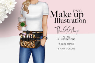 Print on Demand: MAKEUP & BEAUTY FASHION ILLUSTRATIONS Graphic Illustrations By TheGGShop