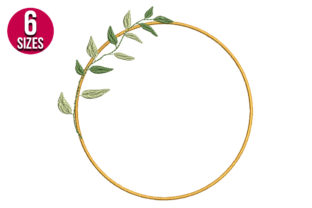 Print on Demand: Olive Wreath Floral Wreaths Embroidery Design By Nations Embroidery