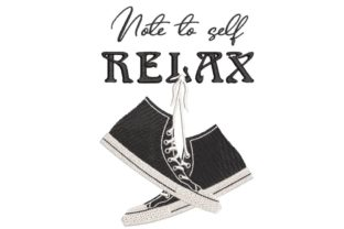 Print on Demand: Sneakers and Quote Inspirational Embroidery Design By Embroidery Shelter