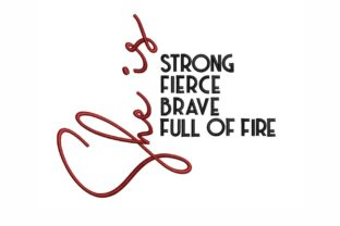 Strong Woman Inspirational Embroidery Design By LizaEmbroidery