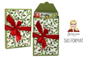 Switch Video Game Gift Box Graphic 3D SVG By Jamie Lane Designs