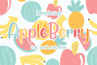 Print on Demand: Apple Berry Display Font By el hotcig