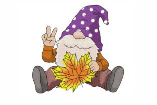 Autumn Gnome Autumn Embroidery Design By LizaEmbroidery