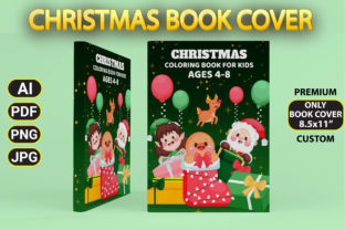 Print on Demand: Christmas Coloring Book Cover Graphic Coloring Pages & Books Kids By Simran Store