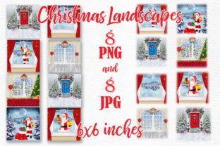 Print on Demand: Christmas Scenery Christmas Landscapes Graphic Illustrations By LeCoqDesign