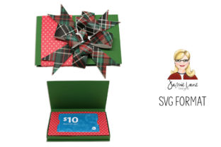 Gift Card Box Bow Graphic 3D SVG By Jamie Lane Designs