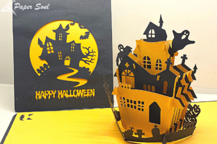 Pop Up Halloween Card Diy Graphic 3D SVG By Paper Soul Craft