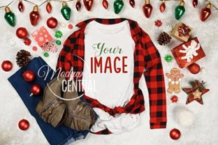 Women's Blank White Christmas T-Shirt Graphic Product Mockups By Mockup Central