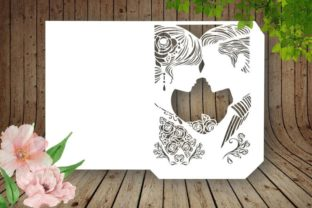 Couple Wedding Envelope Invitations Card Graphic 3D Shapes By PerValDesigns