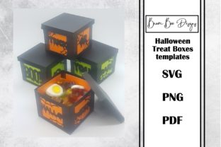 Halloween Treat Box Template Graphic 3D Shapes By Beam Box Designs