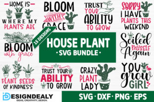 Print on Demand: House Plant SVG Bundle Graphic Crafts By Designdealy