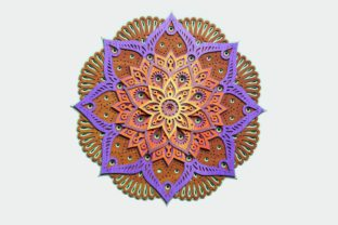 Layered Mandala for Cutting Graphic 3D Shapes By LaserCraftum