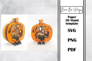 Pumpkin Witch Halloween 3D Stand Graphic 3D Houses By Beam Box Designs
