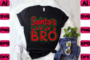 Santa's Bro Graphic Print Templates By The_SVG_hill