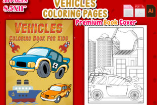 Print on Demand: Vehicles Coloring Page and Book for Kids Graphic Coloring Pages & Books Kids By J U M P