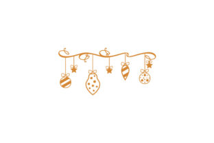 Christmas Ornaments Line Art Christmas Craft Cut File By Creative Fabrica Crafts