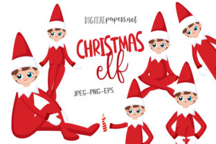 Print on Demand: Christmas Elf - Vol 1 Graphic Illustrations By DigitalPapers