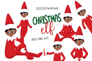 Print on Demand: Christmas Elf – Vol 2 Graphic Illustrations By DigitalPapers