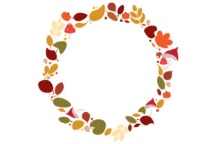 Autumnal Wreath Designs & Drawings Craft Cut File By Creative Fabrica Crafts