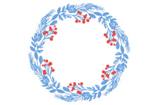 Winter Wreath Designs & Drawings Craft Cut File By Creative Fabrica Crafts