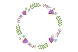 Summer Wreath Designs & Drawings Craft Cut File By Creative Fabrica Crafts