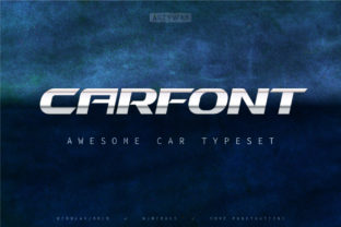 Print on Demand: Car Display Font By artyway