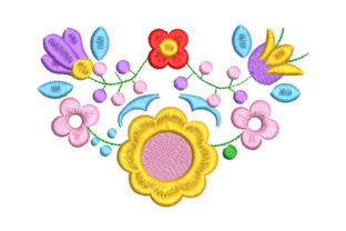 Colorful Flowers Bouquets & Bunches Embroidery Design By Embroiderypacks