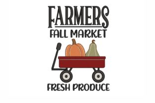 Farmers Fall Market Autumn Embroidery Design By NinoEmbroidery
