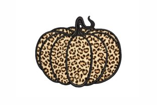 Leopard Pumpkin Autumn Embroidery Design By SonyaEmbroideryStore
