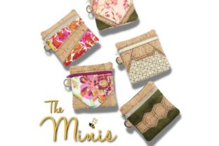 Mini Zipper Bags in the Hoop Accessories Embroidery Design By Sookie Sews