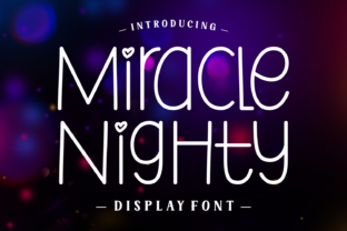 Print on Demand: Miracle Nighty Sans Serif Font By Jasm (7NTypes)