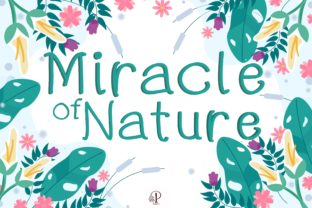 Print on Demand: Miracle of Nature Script & Handwritten Font By PoyJazz