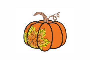 Pumpkin Autumn Embroidery Design By SonyaEmbroideryStore