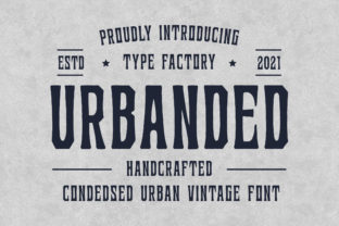 Print on Demand: Urbanded Display Font By TypeFactory
