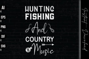 Print on Demand: Hunting Fishing and Country Music Graphic Print Templates By vecstockdesign
