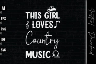 Print on Demand: This Girl Loves Country Music Graphic Print Templates By vecstockdesign