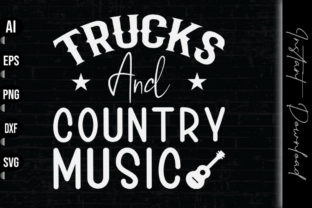 Print on Demand: Trucks and Country Music Graphic Print Templates By vecstockdesign