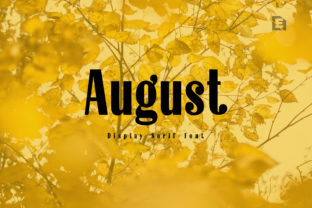 Print on Demand: August Display Font By Extumus