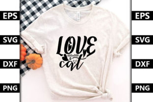 Catsvg Design ,Love Cat Graphic Print Templates By Konica Graphics