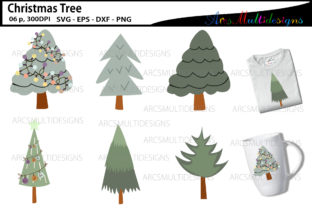 Print on Demand: Christmas Tree Clipart Illustrations Graphic Illustrations By Arcs Multidesigns