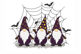 Halloween Gnomes Halloween Embroidery Design By NinoEmbroidery