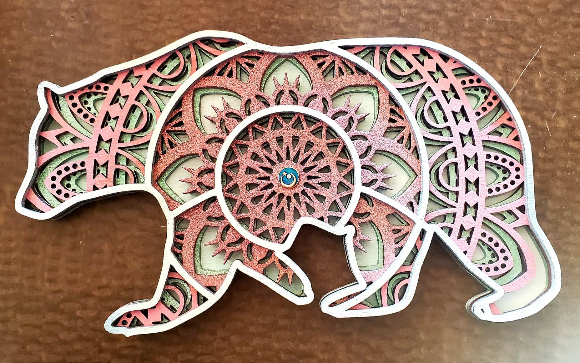 How to make a bear mandala with a laser cutter