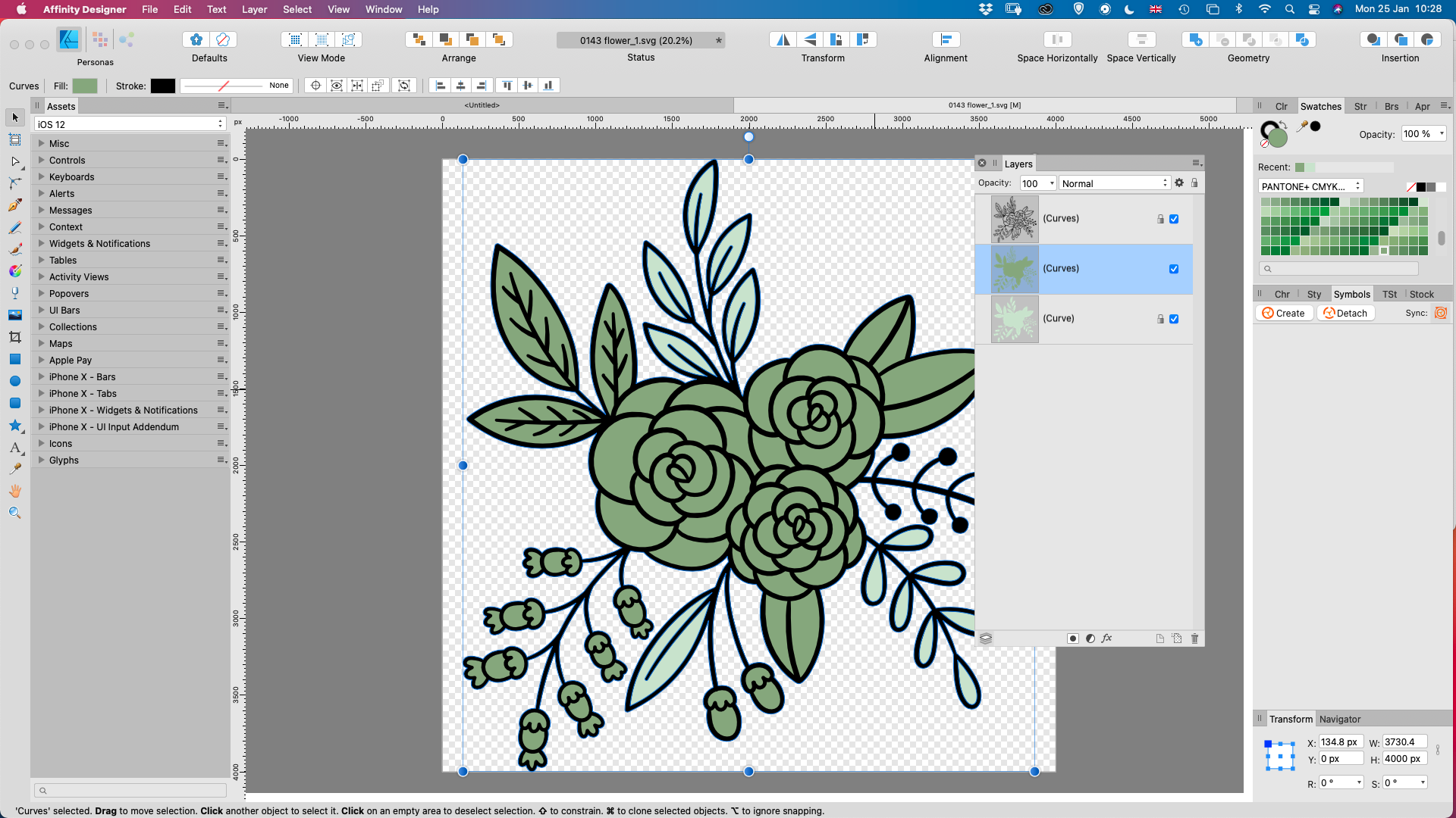 Creating the next coloured layer