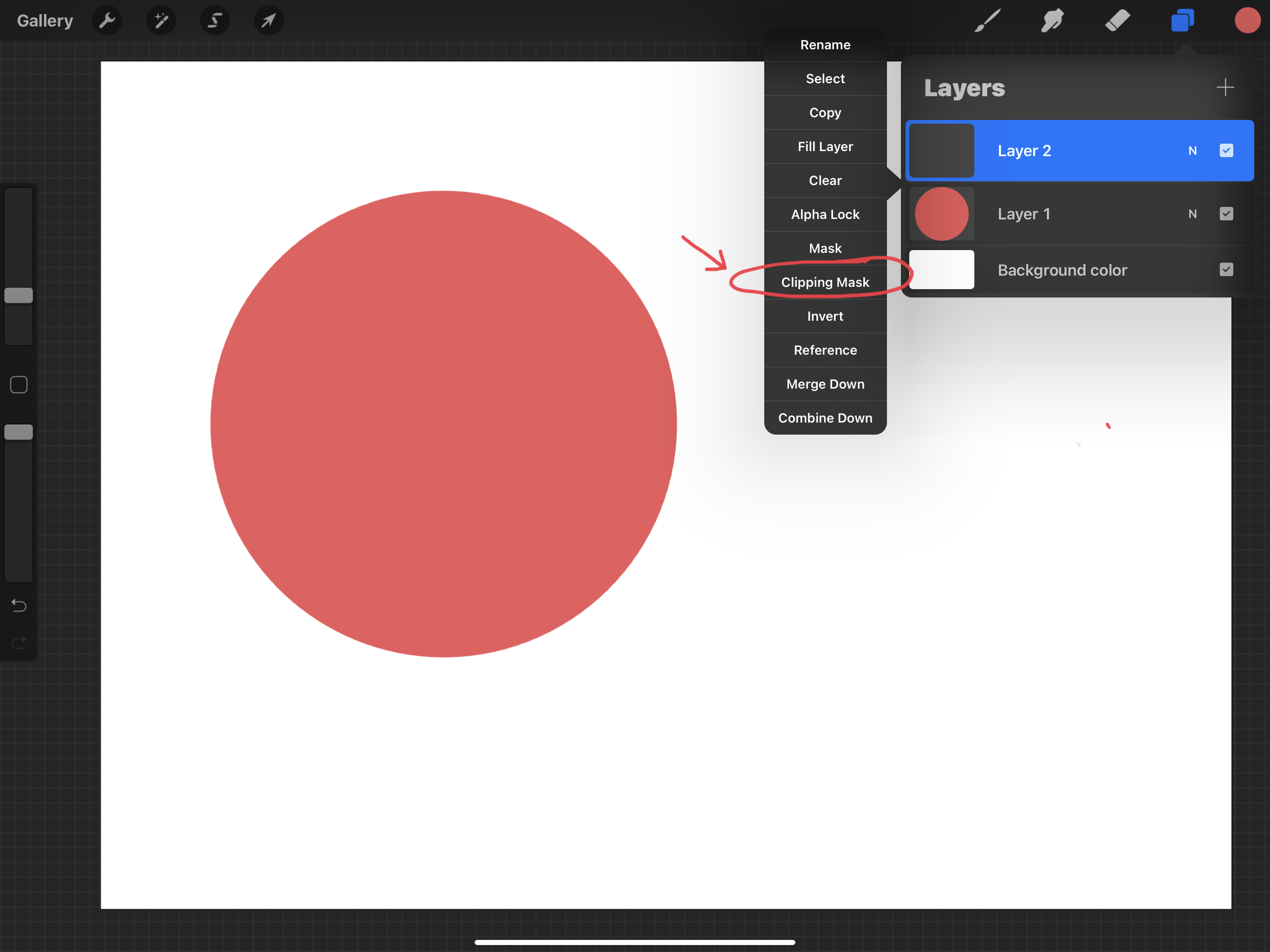 Clipping mask in Procreate