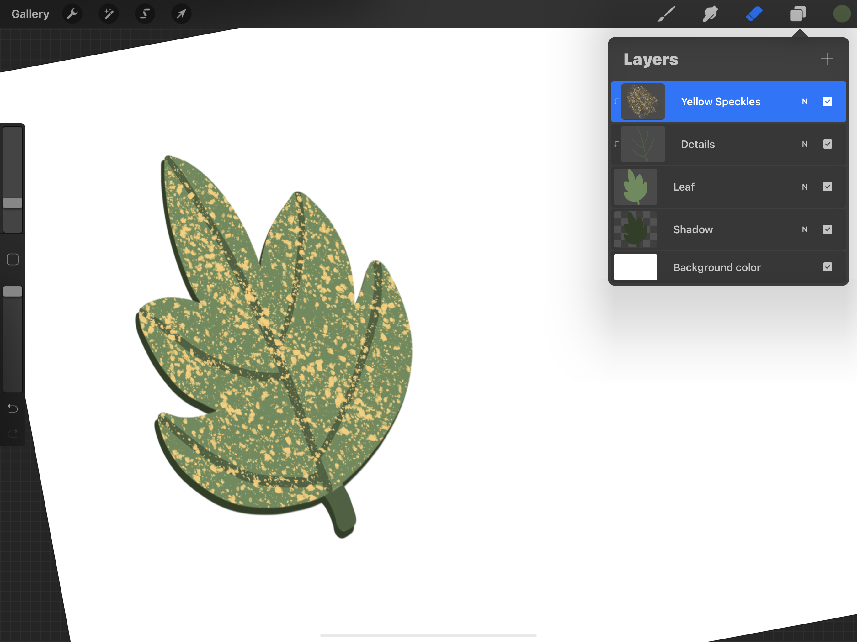 Editing with clipping masks in Procreate