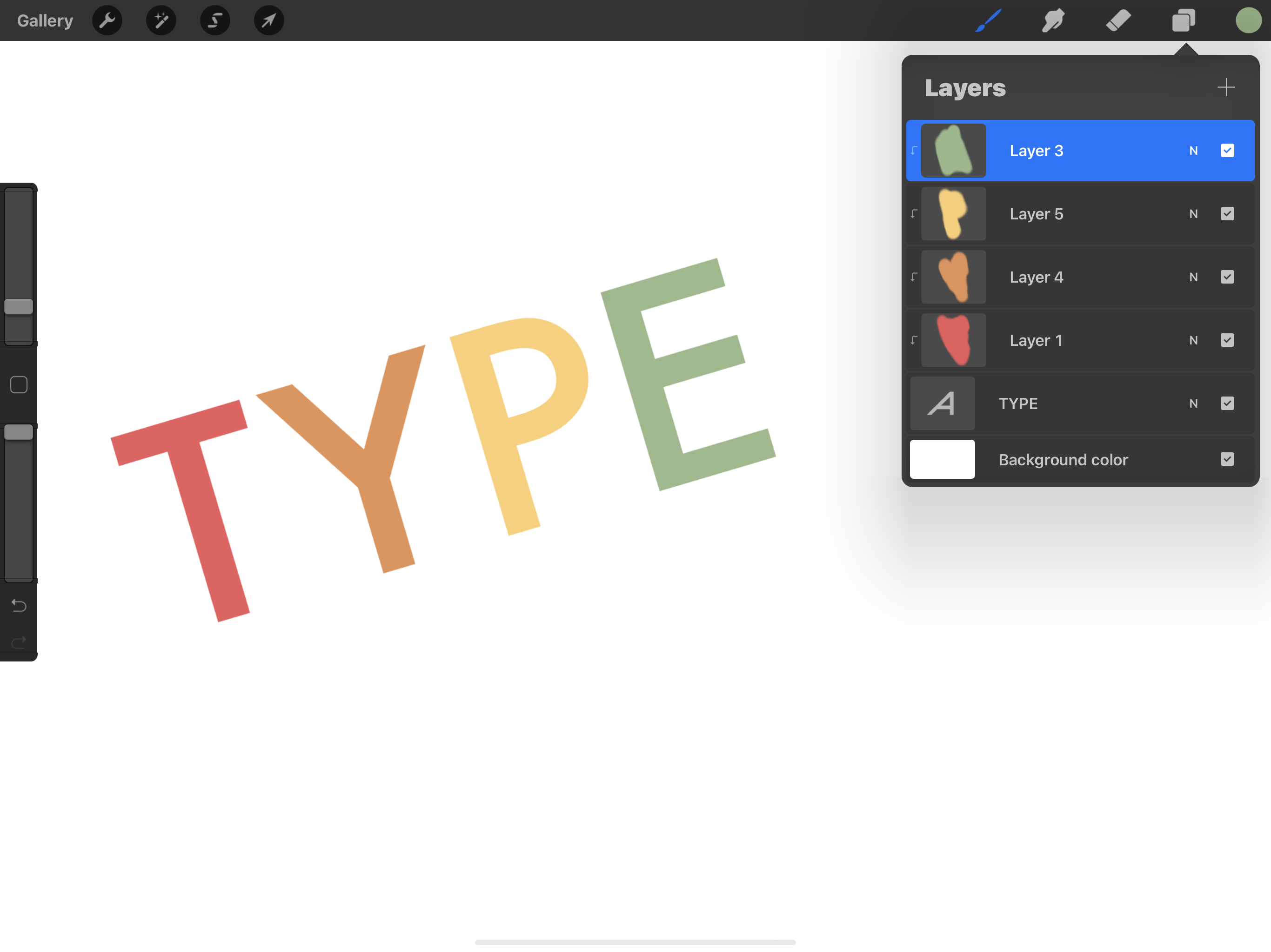 Working with fonts in Procreate