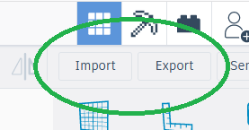 Import and Export Buttons
